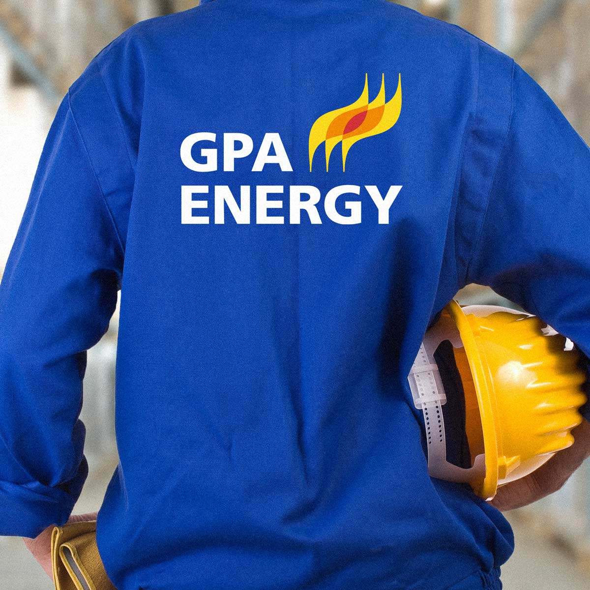 back of GPA uniform