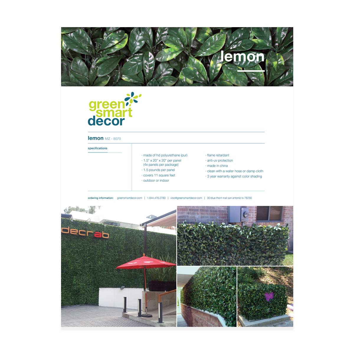 Greensmart catalog lemon page