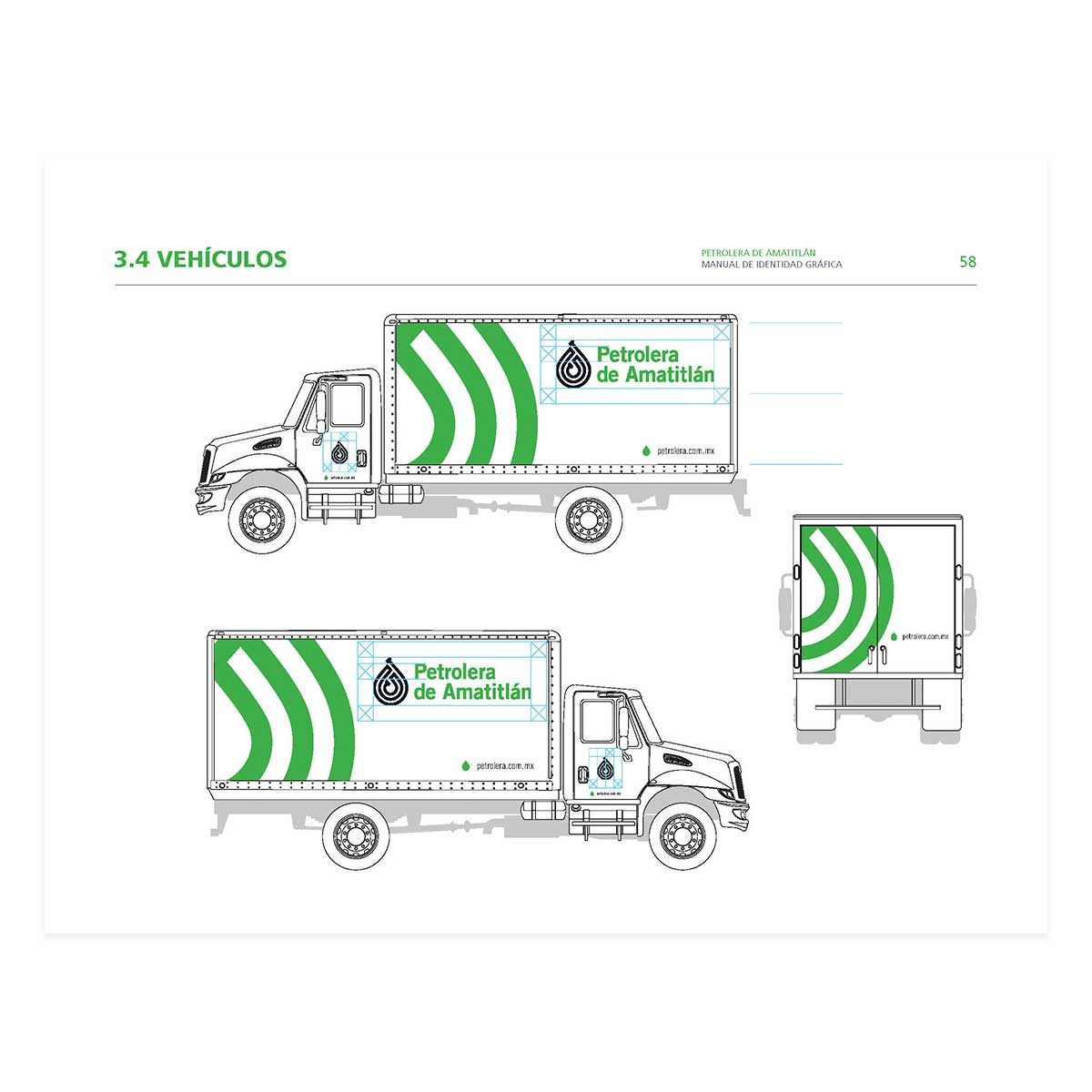 Truck designs in brand guidelines