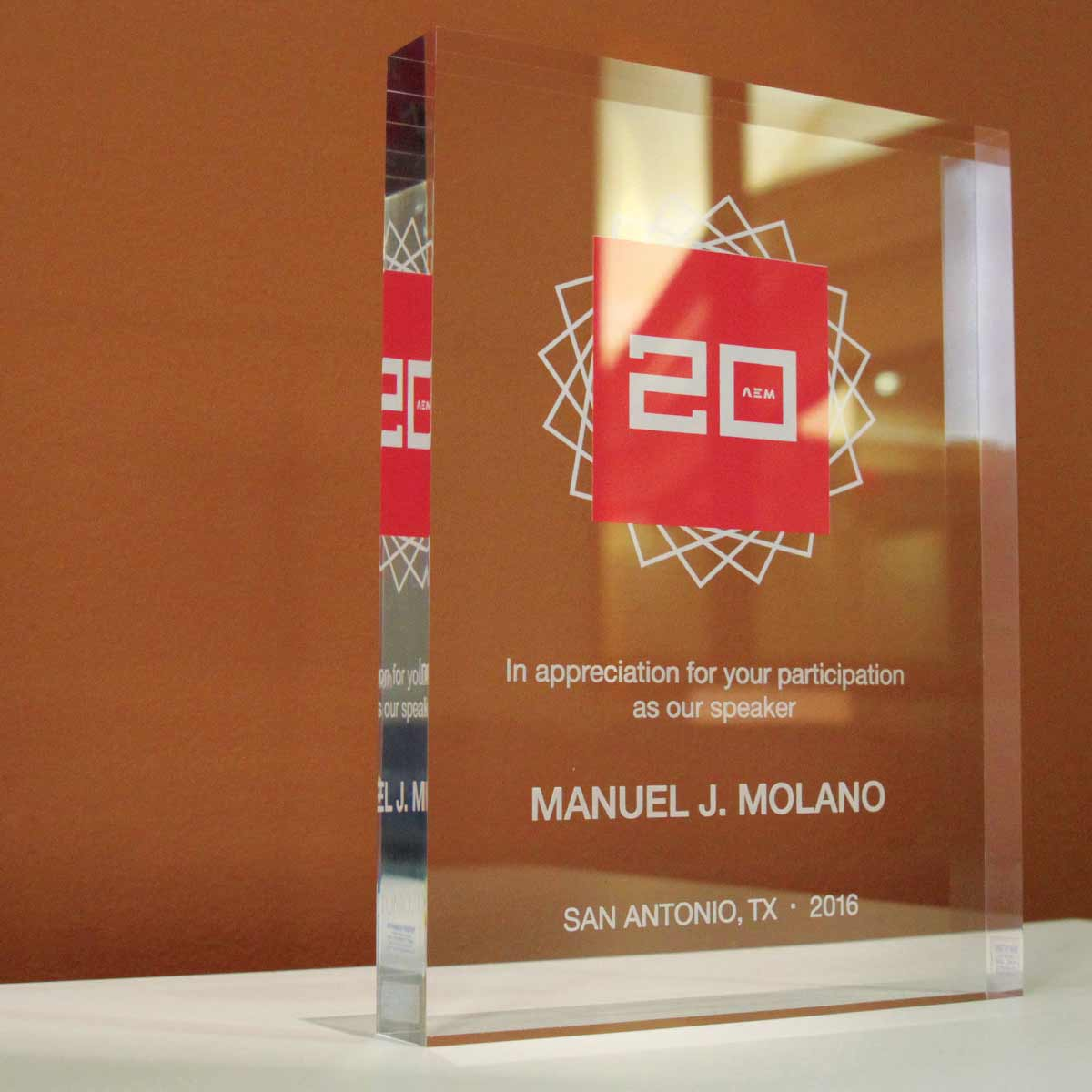 AEM glass award