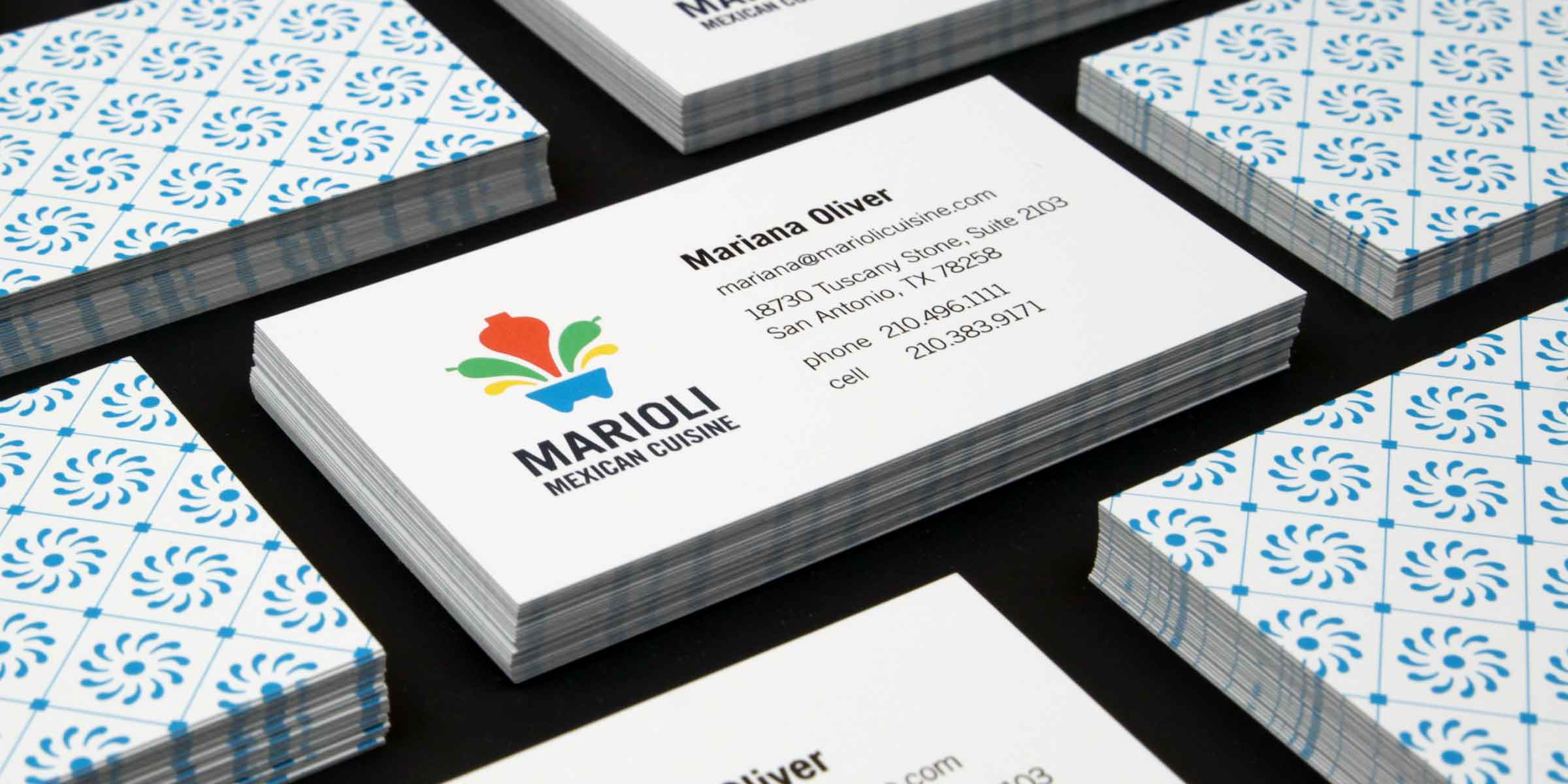 Marioli Mexican Cuisine business cards