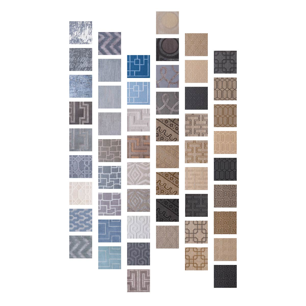 Rug swatches in mosaic pattern