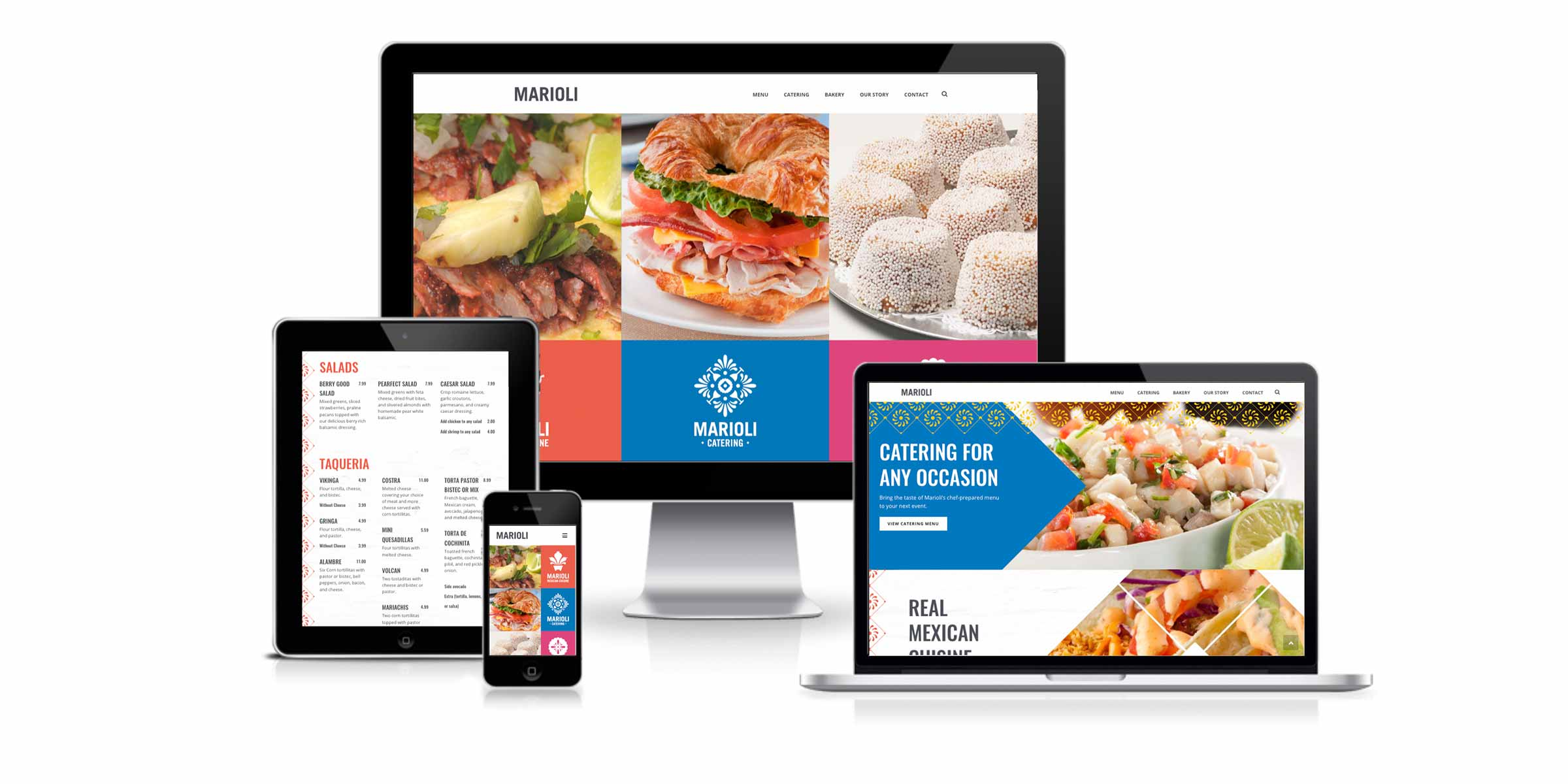 Mariolicuisine.com on multiple devices