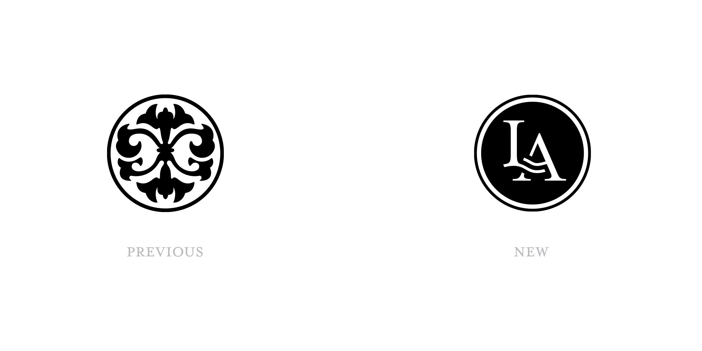 Old and new brandmarks