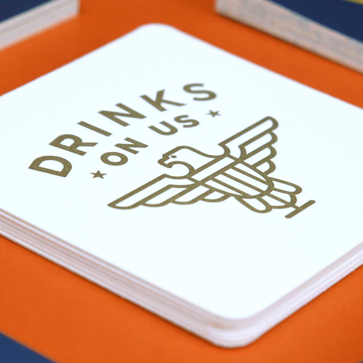 Closeup of coaster